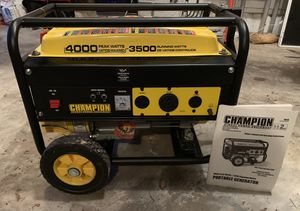 Champion 3500/4000 Generator (Never been used) for Sale in Germantown, MD
