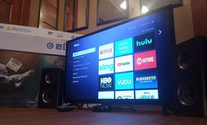 32 inch TV with Roku and speakers for Sale in Grand Rapids, MI