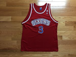 Champion Allen Iverson Philadelphia Sixers Jersey for Sale in Boston, MA