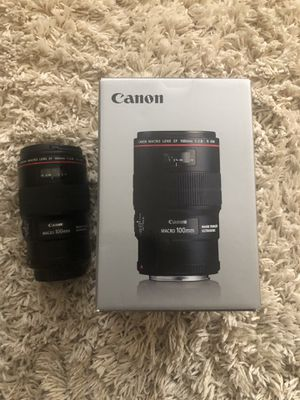 Canon EF Macro 100mm 2.8 lens (New!!) for Sale in Hacienda Heights, CA