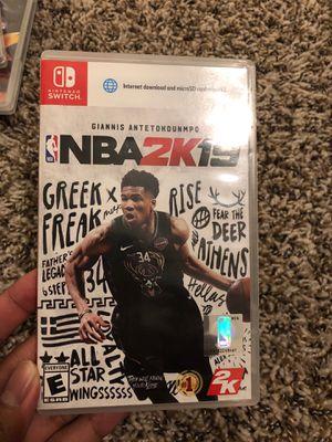 Nintendo Switch NBA 2K19 for Sale in White Settlement, TX