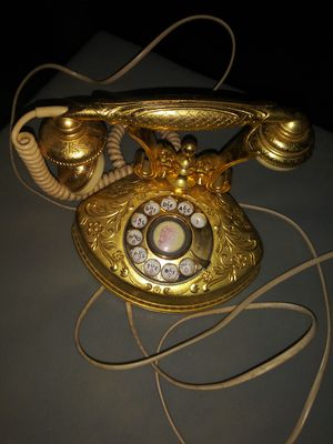 Antique brass wall clock and phone mssg for price for Sale in Pawtucket, RI