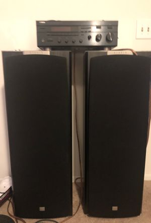 JBL Speakers * Includes monster cables / Clean Stereo Receiver for Sale in Columbus, OH