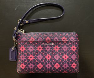 Pink and Purple Coach Wristlet for Sale in Boston, MA
