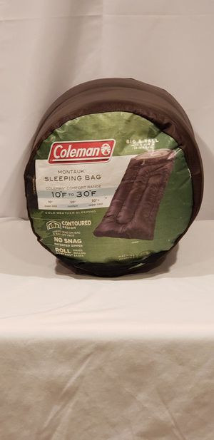 Coleman Big & Tall 10° to 30° Sleeping Bag for Sale in Baytown, TX