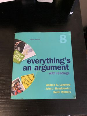 Everything's an argument (8th edition) for Sale in Norfolk, VA