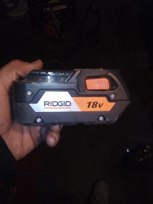 RIDGID 18V lithium ion cordless power tool batteries for Sale in Fresno, CA