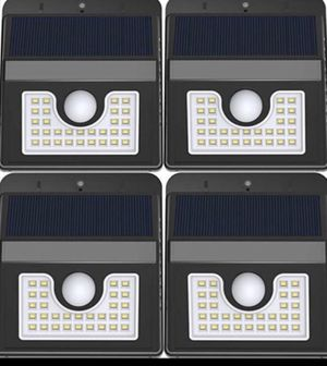 4 pack Solar Motion Sensor Light Outdoor Waterproof Bright 30 LED Wall Mount Security Lights for Garage Door Path Walkway Deck Shed for Sale in Sugar Land, TX