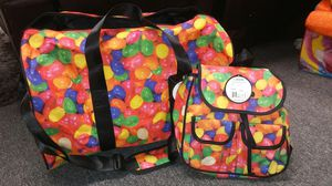Sweetz-A-Riffic Jelly Bean duffle bag & mini backpack for Sale in Orange, CA