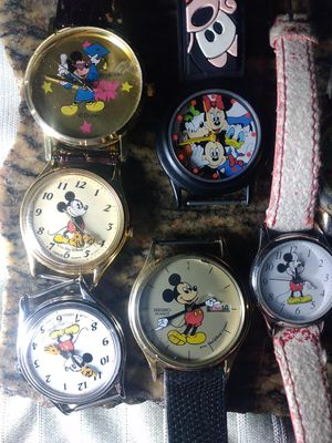 Vintage Mickey mouse watches purchased separately or as a bundle collectors items for Sale in Seattle, WA