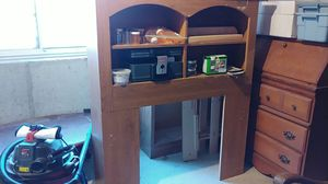 Twin bed bookcase headboard and four drawer underdresser for Sale in Salem, UT