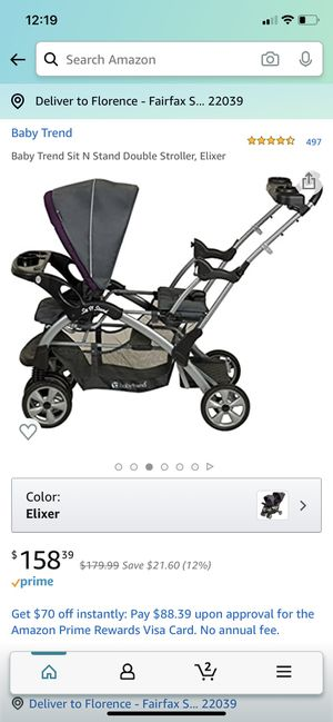 Good condition Sit n stand double stroller for Sale in Fairfax Station, VA