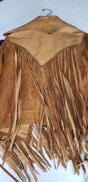 Vintage Womens long fringe leather jacket for Sale in Auburn, WA