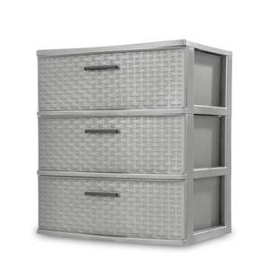 Sterilite 3-Drawer Weave Dresser for Sale in Portland, OR