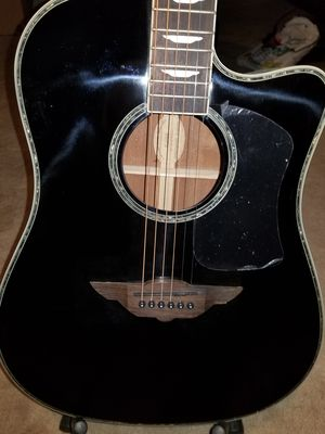 Keith Urban Black Acoustic Guitar with Gig Bag for Sale in Center Line, MI