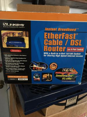 Linksys Etherfast Cable/DSL router for Sale in Lake Mary, FL