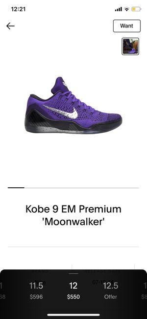 Kobe 9 moonwalker for Sale in Whittier, CA