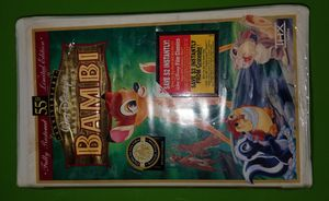 Walt Disney's Bambi 55th Anniversary Edition VHS Video Cassette Tape for Sale in Essington, PA