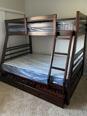 Twin/full bunk beds with mattress included for Sale in City of Industry, CA