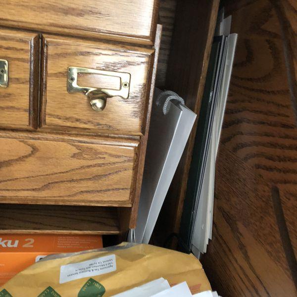 Solid Oak Wood Rolltop Desk
