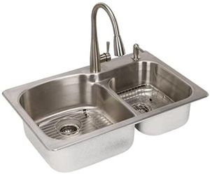 18 gauge double bowl stainless steel kitchen sink for Sale in Kissimmee, FL