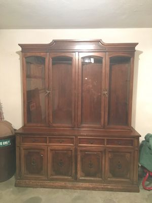 Solid wood hutch for Sale in Sudbury, MA