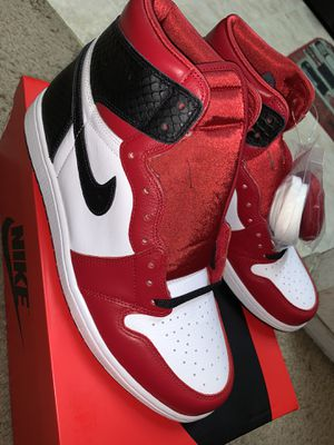 Air Jordan 1 Satin Red Size 10.5 Men/12 Women for Sale in Hayward, CA