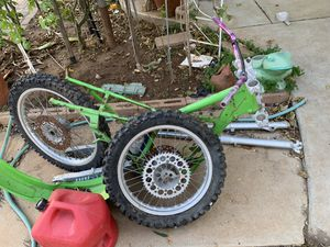 Kawasaki race dirt bike frame. With parts. for Sale in San Diego, CA