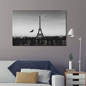 ((FREE SHIPPING)) eiffel tower in paris in black and white - giclee print gallery wrap modern home decor Painting like print for Sale in Albany, CA