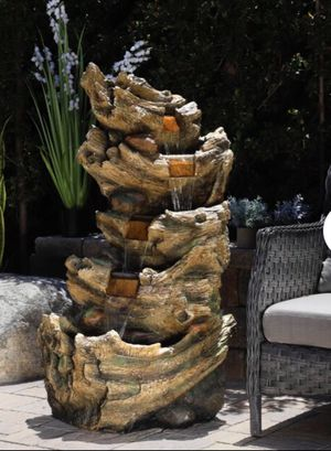 Cascading fountain with lights for Sale in Vernon, CA