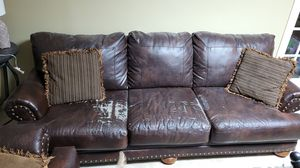 Leather Sofa & Love seat for Sale in Naperville, IL