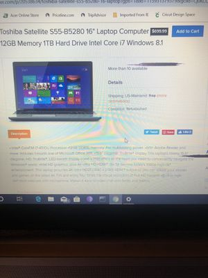 Toshiba and hp laptops for Sale in Austin, TX