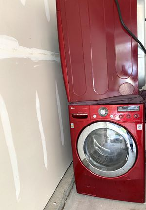 LG cherry red front load washer and dryer. for Sale in Rock Hill, SC