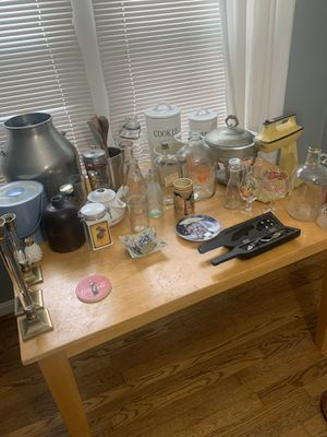 Vintage glasses jugs kitchen stuff for Sale in California, OH