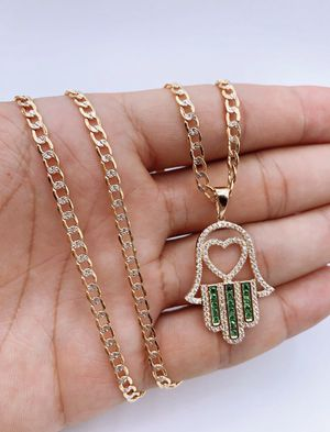 14k Hamsa Neckless with gold chain for Sale in New York, NY