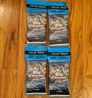 2020 Baseball Topps Chrome Cellos x4 Sports Cards for Sale in Cranberry Township, PA