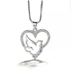925 sterling silver pendant with chain All 925 silver beautiful bird CZ pendant. Black friday , Thanksgiving, Christmas Gift for Sale in Aurora, IL