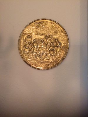Vintage brass wall plate for Sale in Apex, NC