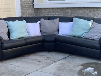 IKEA Leather Sectional | FREE DELIVERY! for Sale in Aurora,  CO