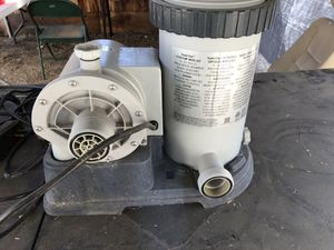 Intex pool pump 2500gph for Sale in Patterson, CA