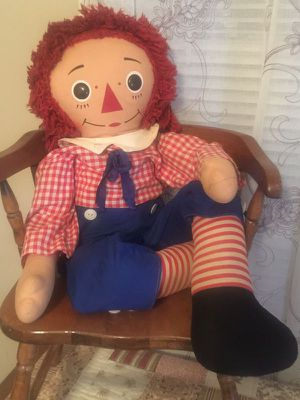 1970's Knickerbocker Raggedy Andy excellent condition face clean no non smoke hair all contacted no stains original sailor outfit all limbs secure for Sale in Northfield, OH