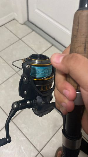 Bg fishing Rod and reel. Crowder Rod. 30 pound line 4000 Serious for Sale in Fort Myers, FL