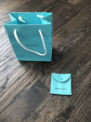 Tiffany & Co BAG and jewelry pouch for Sale in Plano, TX