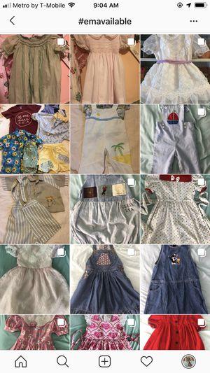 Vintage and modern kids clothes girl boy dress romper overalls denim for Sale in Fort Lauderdale, FL