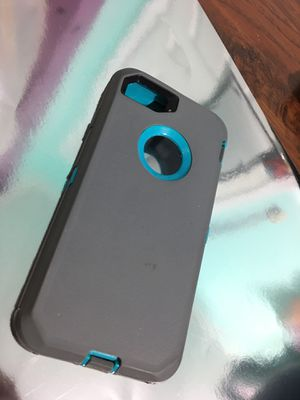 iPhone 6/6s/7/8 grey and blue/teal otter box case for Sale in Wingo, KY