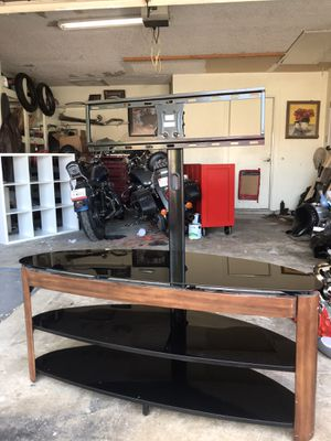 Modern glass tv stand - brand new for Sale in Arlington, TX