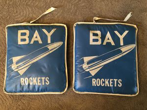 2 Vintage Bay Village rockets seat cushions for Sale in Westlake, OH