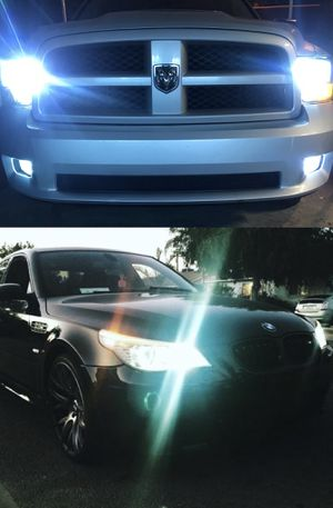 Super bright led headlights top quality lowest price guaranteed 25$ free license plate LEDs with purchase for Sale in Los Angeles, CA