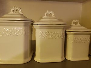 Kitchen Canisters - white for Sale in Twinsburg, OH