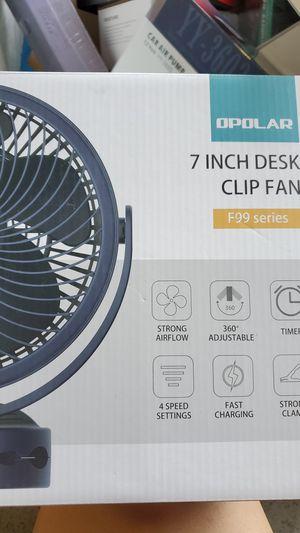 Opoplar 7inch Desk Clip Fan for Sale in Doraville, GA